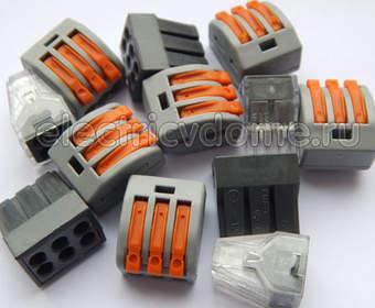 Wago клеммники для соединения проводов