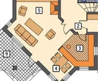 Кухня студия, совмещенная с гостиной и столовой в частном доме