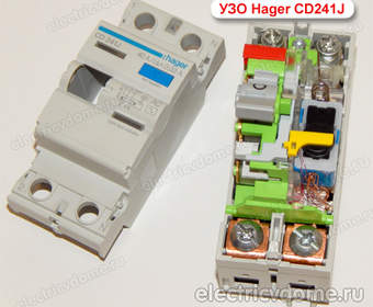 Конструкция УЗО (устройство защитного отключения)