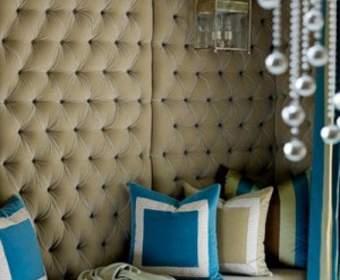 Мягкая отделка для стен самостоятельно: различные способы декора