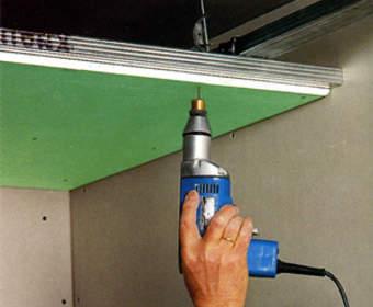 Одноуровневый подвесной потолок из гипсокартона: изготовление по этапам