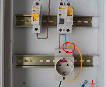 УЗО ошибки подключения в электрощитке