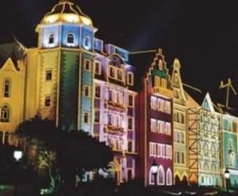Светодиодный дюралайт как рекламная подсветка зданий